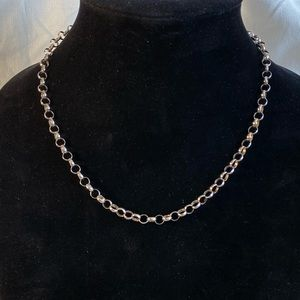 Vintage Sterling Chain Necklace. 17""